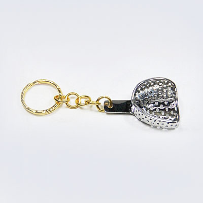 Stainless Steel - Dental Perforated Impression Tray Keychain